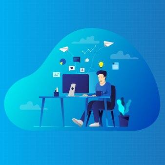 Creative digital marketing illustration
