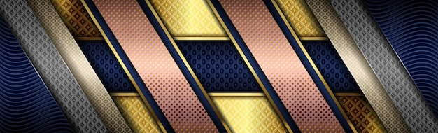 진한 파란색에 그라데이션 골드 색상의 크리에이티브 디지털 핑크