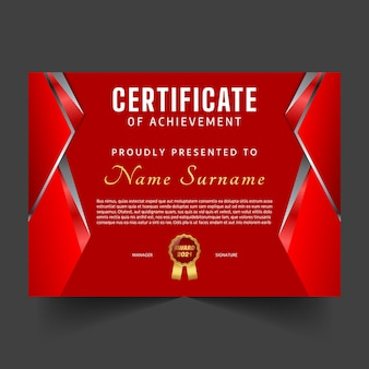 Creative diploma and certificate template