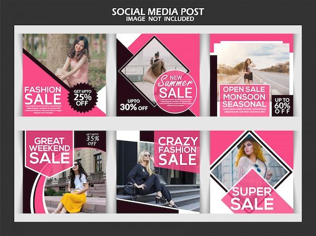Creative discount instagram post template