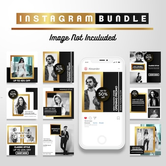 Creative discount instagram post template