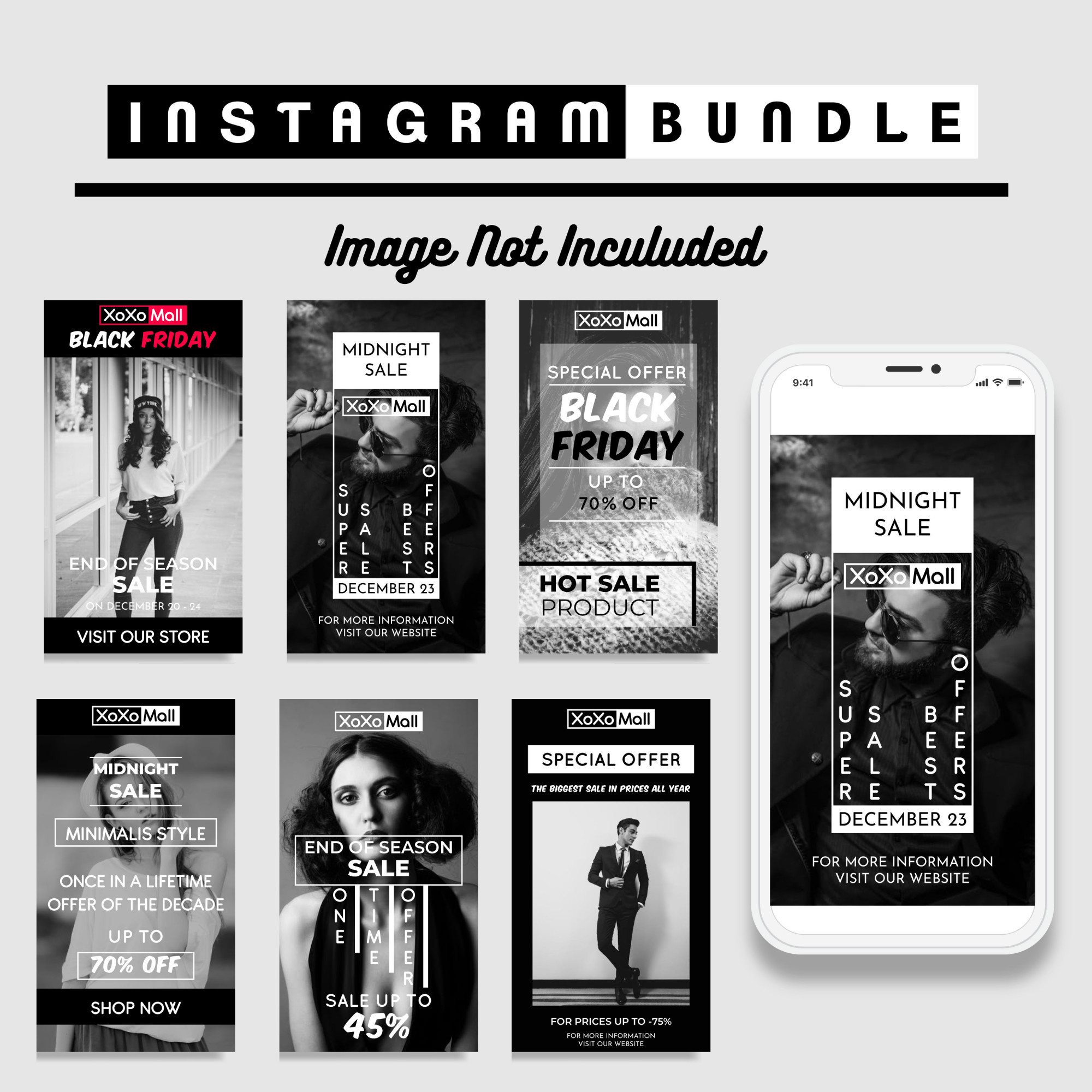 Creative Discount Instagram Story Template