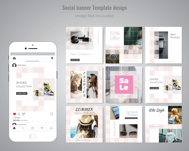 Creative discount social media post template