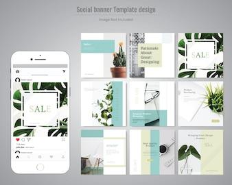 Creative Discount Social Media Post Template