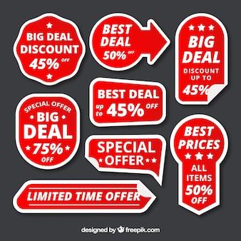 Creative discount sticker set