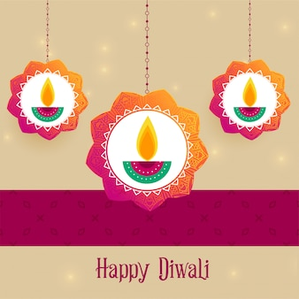 Creative diwali festival greeting background