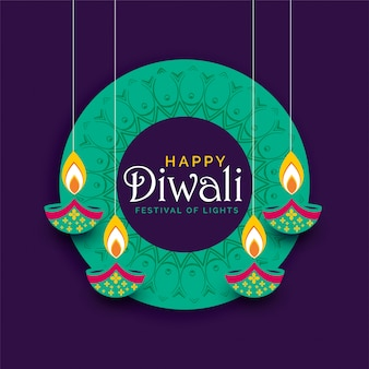 Creative diwali festival poster design background