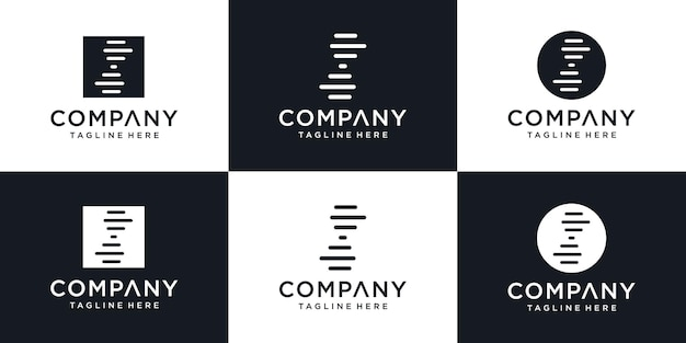 Creative dna logo modern design concept, abstract gen logo design template