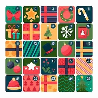 Calendario dell'avvento disegnato creativo