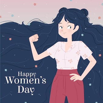 Creative drawn international women's day illustrated