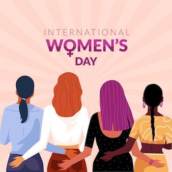 クリエイティブに描かれた国際女性の日のイラスト