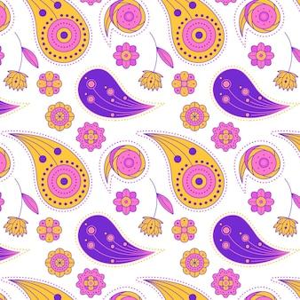 Creative drawn paisley pattern