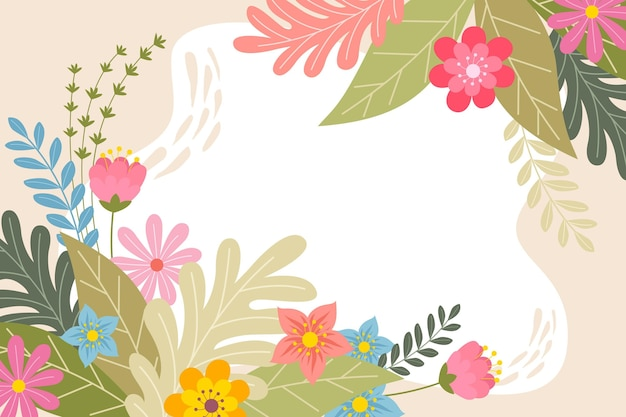 Creative drawn spring background