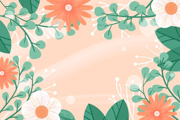 創造的な描かれた春の壁紙