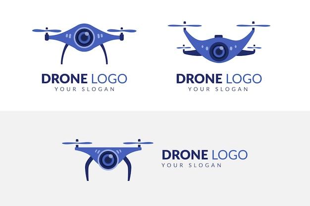 Креативный набор шаблонов логотипа дрон
