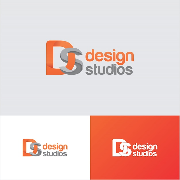 Creative ds design studio logo design template