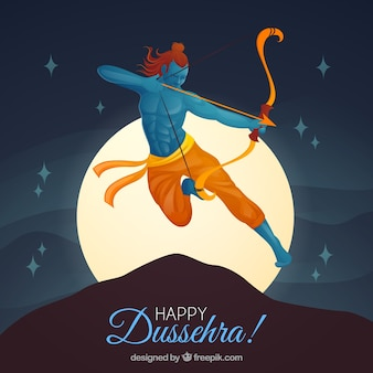 Creative dussehra background with archer