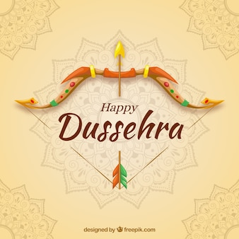 Creative dussehra background with bow
