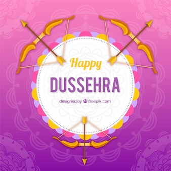 Creative dussehra background with bows