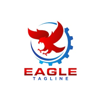 Creative eagle logo stock vector