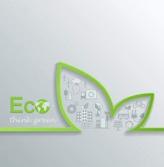 Creative eco concept.