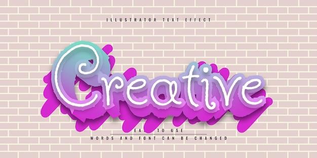 Креативный редактируемый красочный дизайн шаблона с эффектом 3d текста Premium векторы