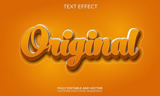 Творческий редактируемый эффект золотого текста