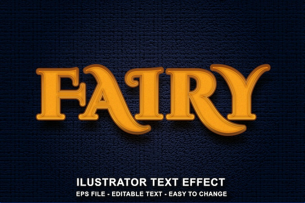 Creative editable text effect fairy style