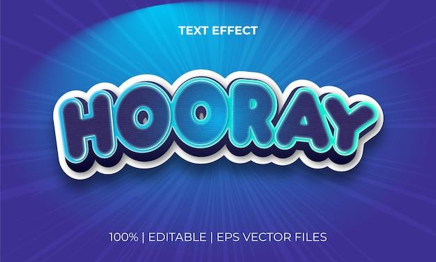 Векторный файл с креативным редактируемым текстовым эффектом