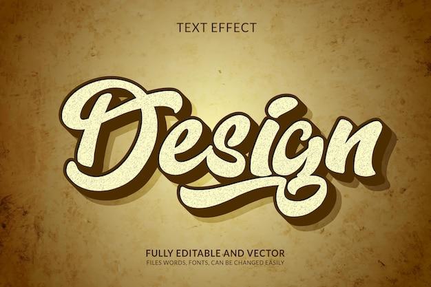 Творческий редактируемый текстовый эффект