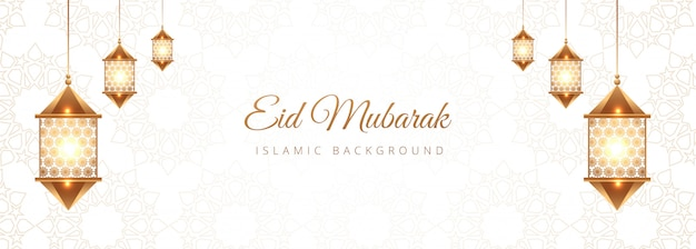 Creative eid mubarak islamic banner design