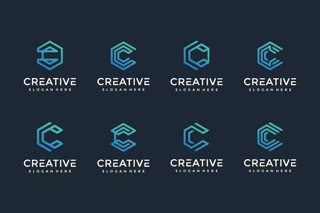 Creative and elegant c letter logo icon for luxury business