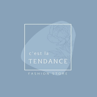 Creative elegant fashion logo