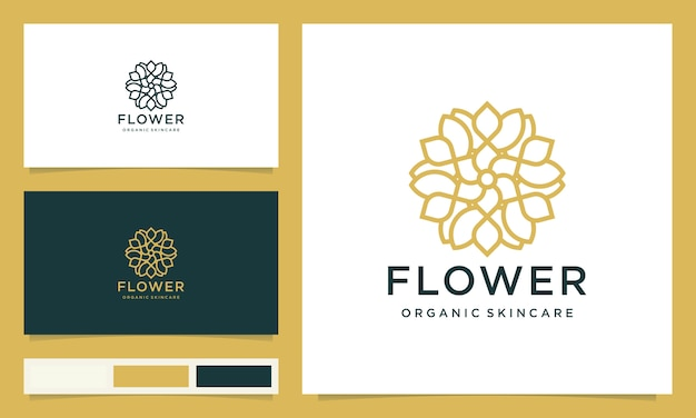 Creative elegant leaf and flower rose logo design for beauty, cosmetics, yoga and spa