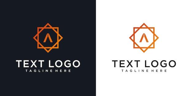 Креативный элегантный логотип буквы a с минимальным шаблоном дизайна