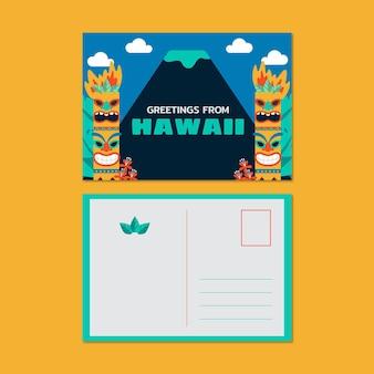 Cartolina di viaggio esotico creativo delle hawaii