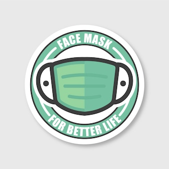 Creative face mask logo template