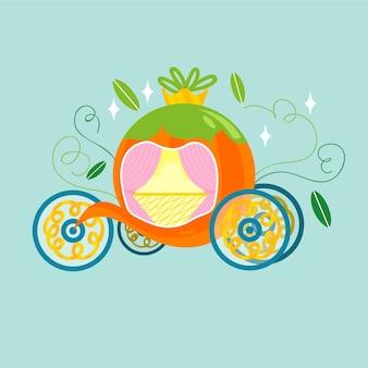 Творческая сказочная иллюстрация тыквенной коляски