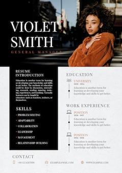 Creative fashion editable cv template resume builder