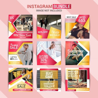 Creative fashion instagram post design