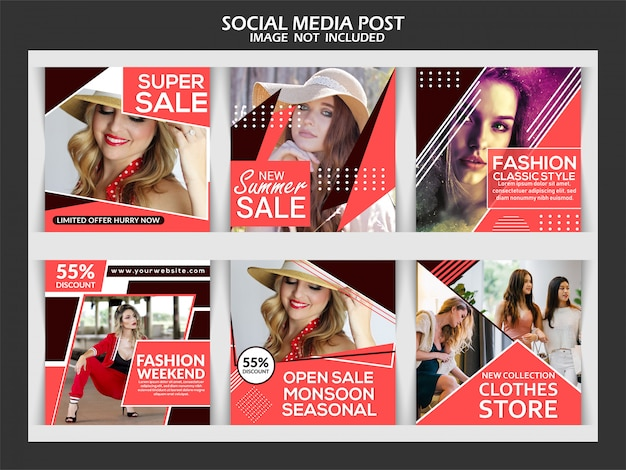 Creative fashion instagram post template