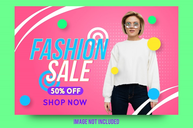 Creative fashion sale banner template