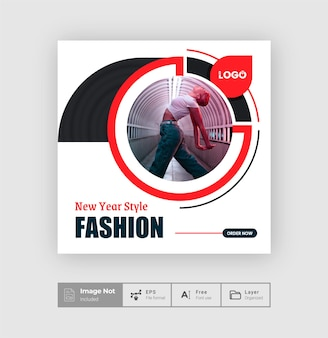 Creative fashion sale offer post design template creative modern sale post colorful layout flyer