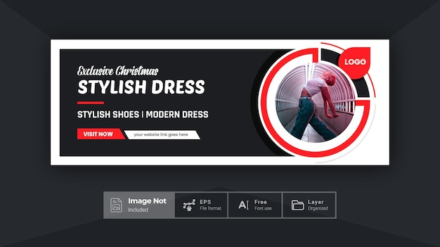 Creative fashion social banner cover design product sale post discount banner colorful layout theme