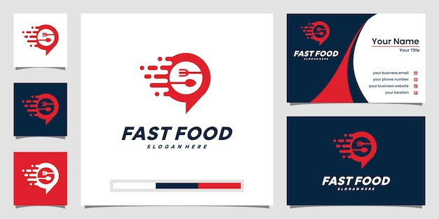 Creative fast food logo and business card design inspiration