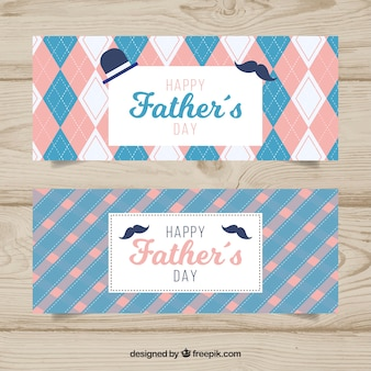 Creative fathers day banners