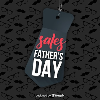 Creative fathers day sale background