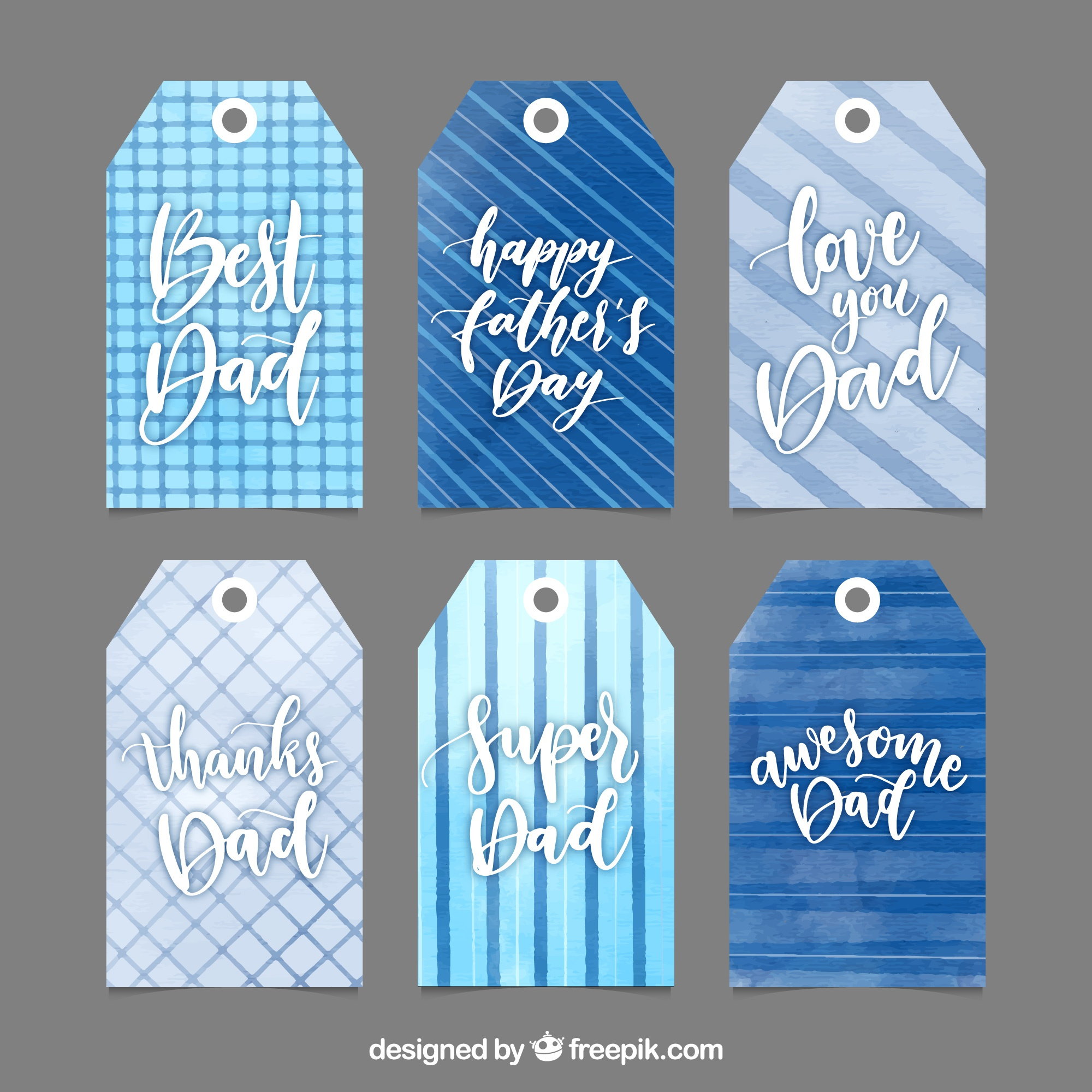 Creative fathers day tags