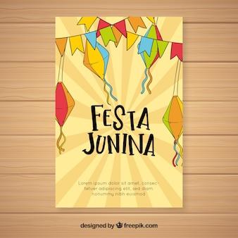 Creative festa junina cover template