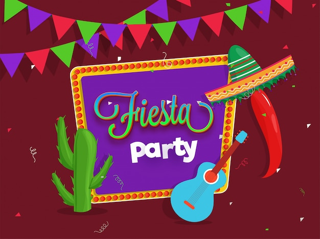 Creative fiesta party flyer design